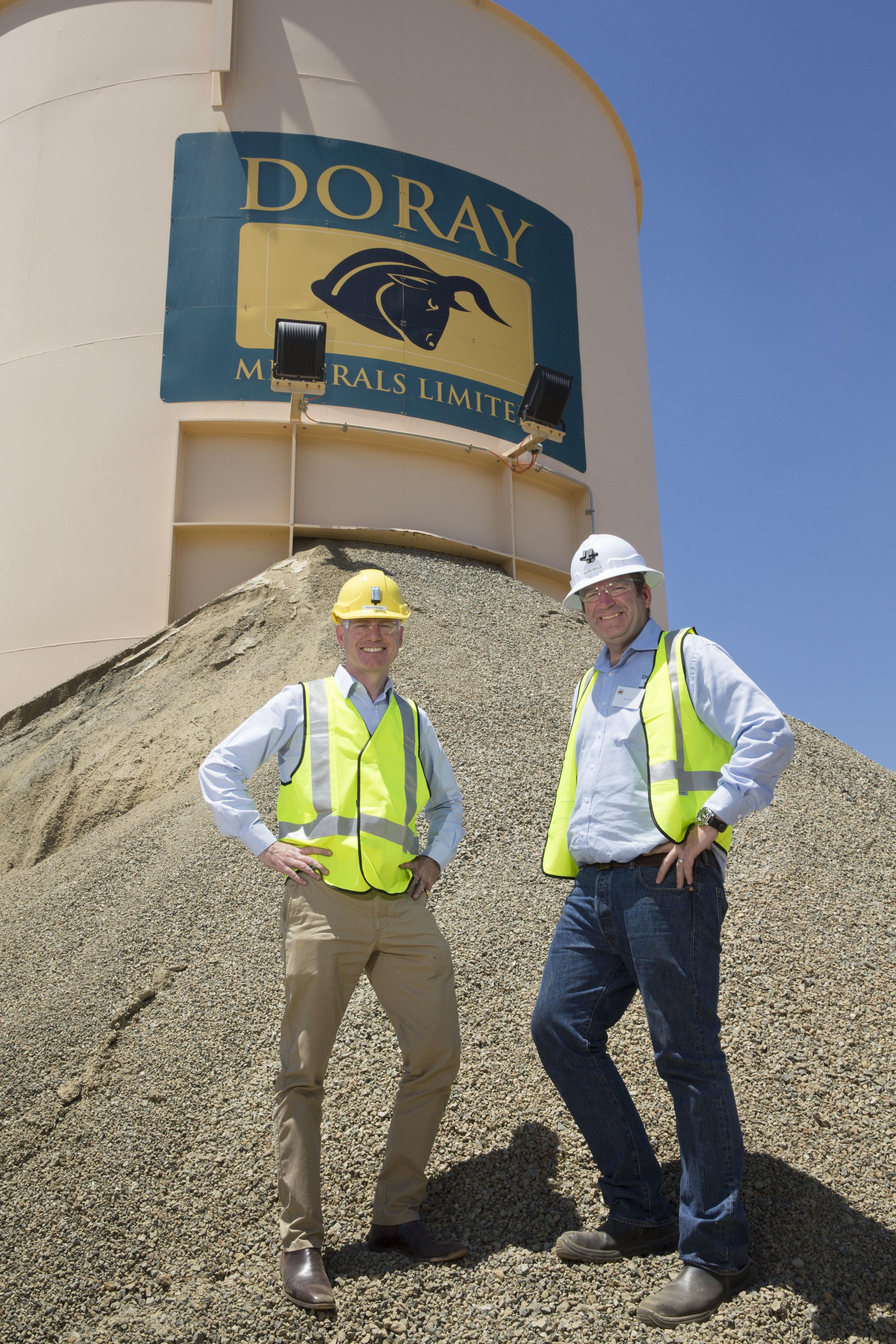 Doray Managing Director, Allan Kelly with Minister for Mines & Petroleum, the Hon Sean L'Estrange MLA.