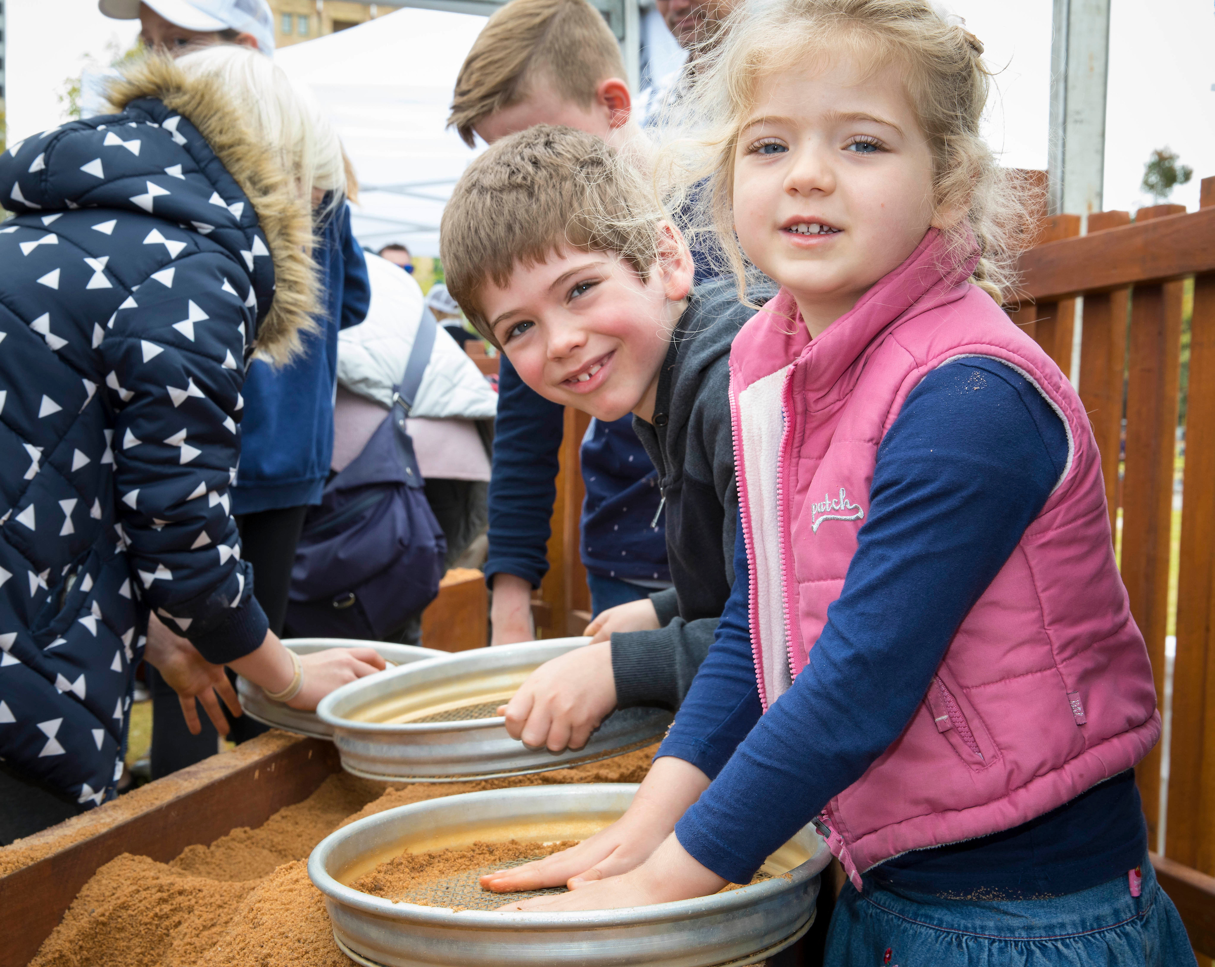 Gold panning was a hit!