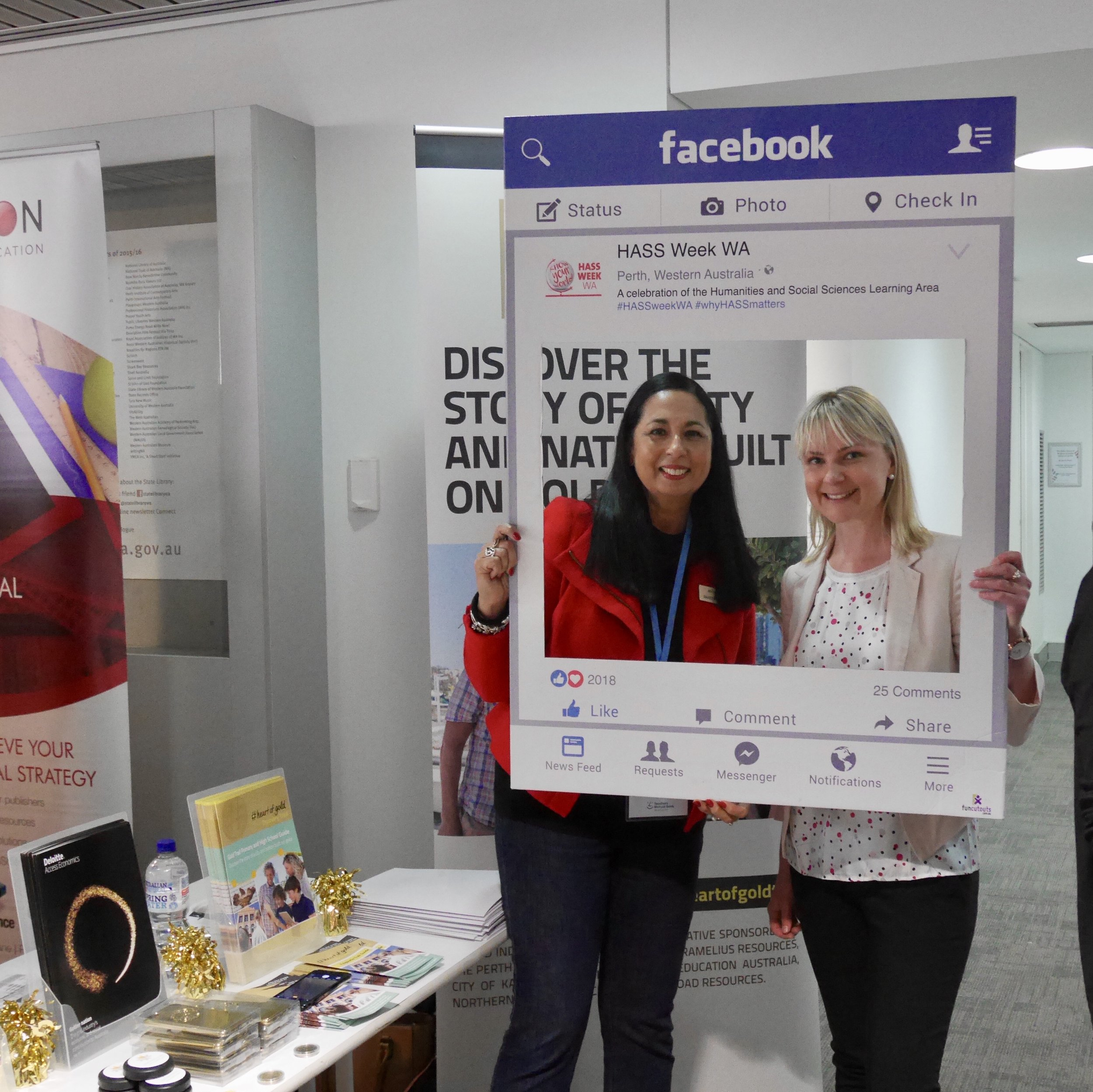 AISWA Consultant Future-focused Teaching and Learning Maree Whiteley, with Gold Industry Group Executive Officer Rebecca Johnston