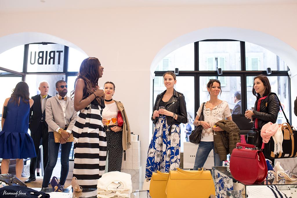 Mafalda Kyambel, founder and editor-in-chief of TRIBU magazine, presenting TRIBU House during the opening night on April 14, 2016