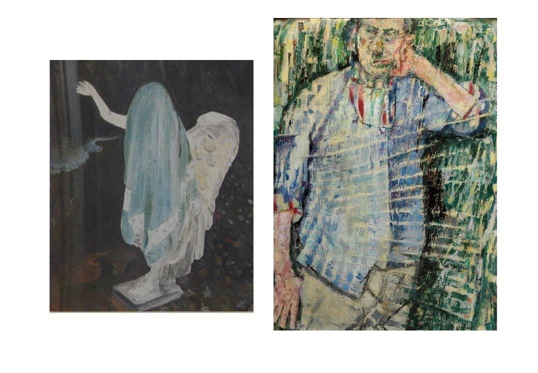 Ivan Malerba,  Kelvin River , 2008 | Fausto Pirandello,  Atmosfera e Autoritratto , 1956. Rome, Private Collection.