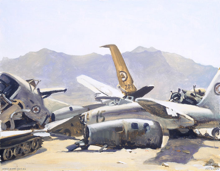 Wrecked Russian aircraft, Bagram, Afghanistan