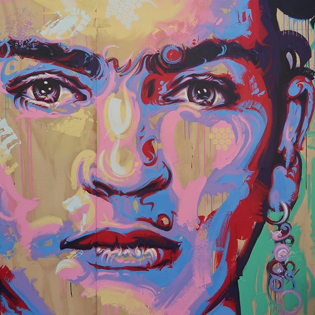 Happy Birthday Frida! 💐❤️🎨 #frida #fridakahlo #fridakahloart #altsummit #thesaguaro #palmsprings #Artwork #Art #Artist #MichaelCorrArtist  #ContemporaryPainting #ContemporaryArtists #InstaArt #InstaArtist #ArtistsOnInstagram #Painter #Painting #AcrylicPainting #Acrylics #Colours #PortraitArt #Fineart #Originalart #Originalartwork [Thanks to @daler_rowney for providing system3 acrylics for this piece #Ad #Gifted]