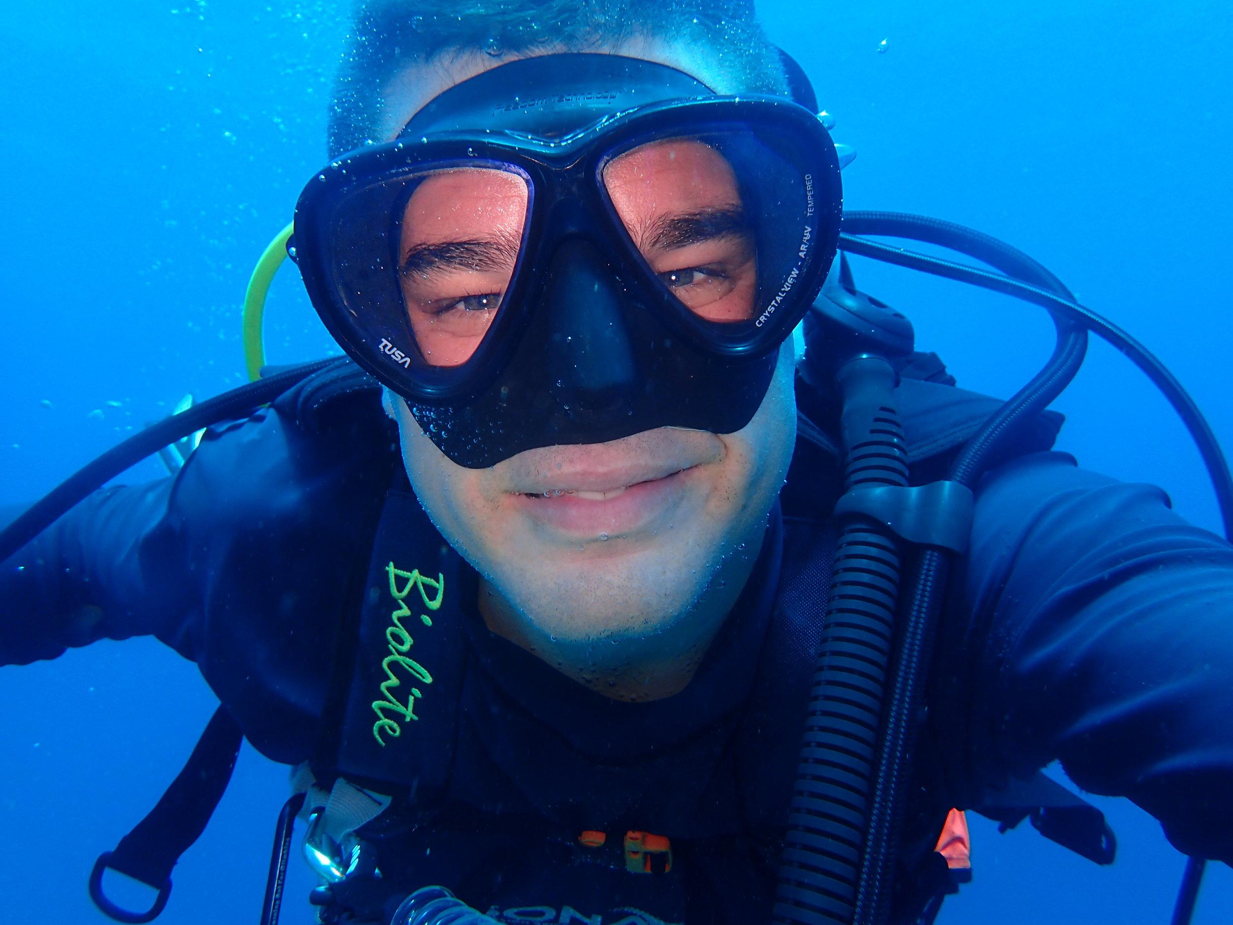 My first decent underwater selfie