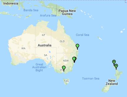 Australian VHF Winlink nodes