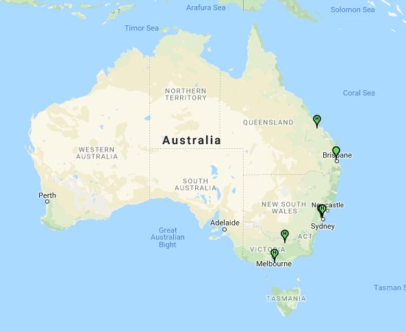 Australian HF ARDOp stations