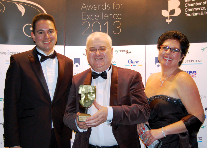 Business Excellence Award for  PC Consultants.  Winners of the highly contended Business and Professional Services Award.