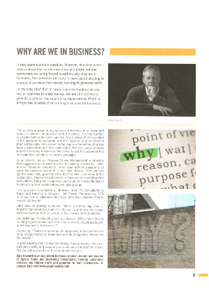 Why Are We In Business?