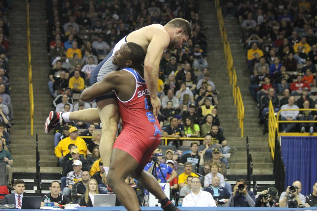 The United States Olympic Trials for wrestling was hosted in Iowa City, Iowa on April 9 and 10, 2016. The winners of these trials would go on to represent America in the Olympic Games in Rio de Janeiro, Brazil in August of 2016. Former Iowa State wrestlers Kyven Gadson and Jake Varner competed in the trials, but did not win their brackets.