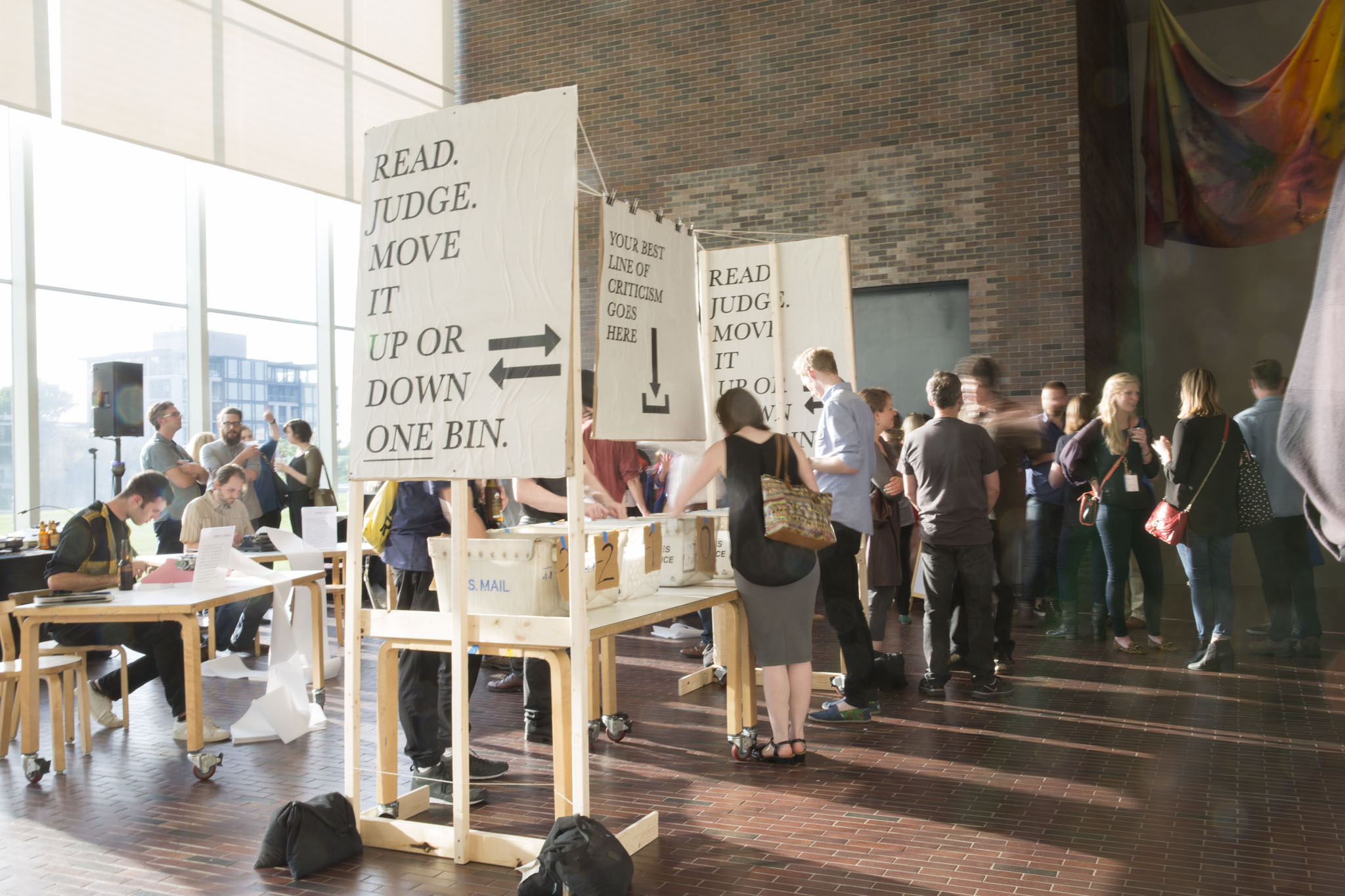 The conference kicked off with the Everyone's a Critic opening event, featuring a live criticism game by Revolver. Photo: Walker Art Center