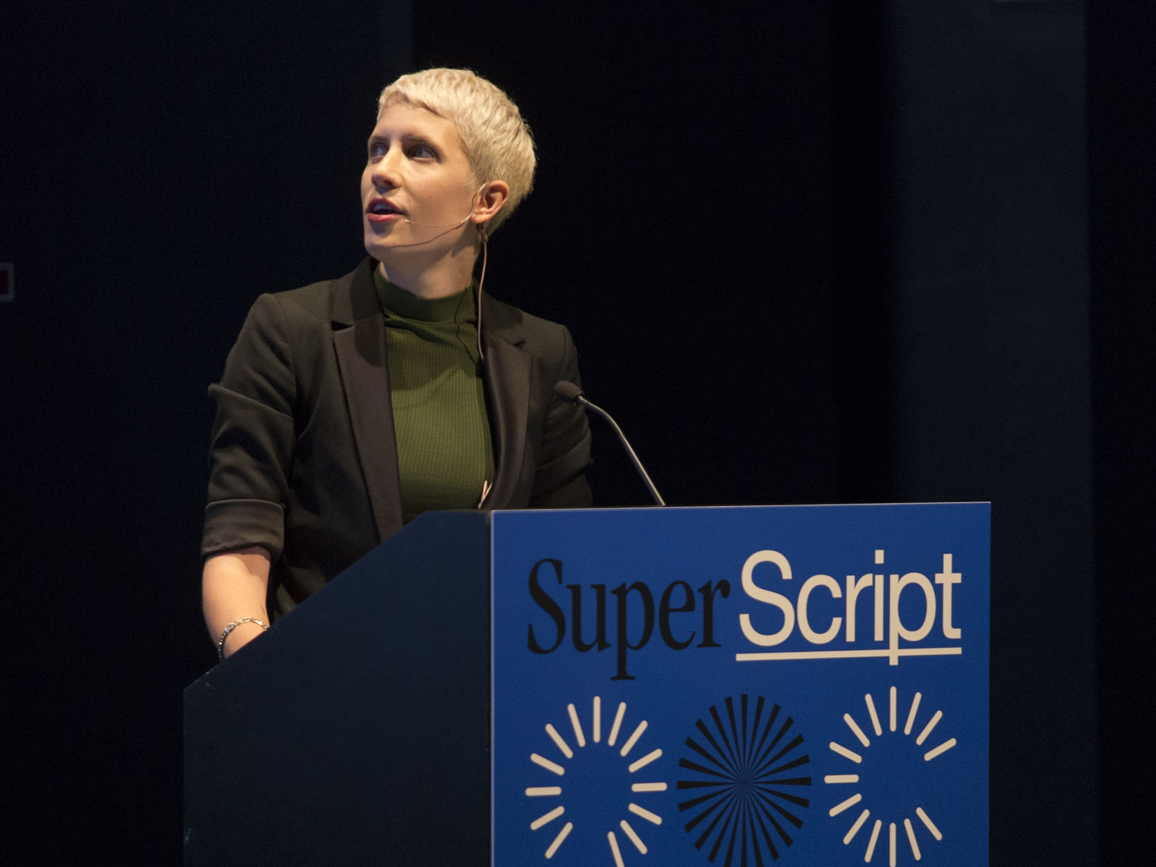 """Claire Evans of YACHT and  Vice 's  Terraform discusses science fiction as """"cultural first response."""" Photo: Walker Art Center"""