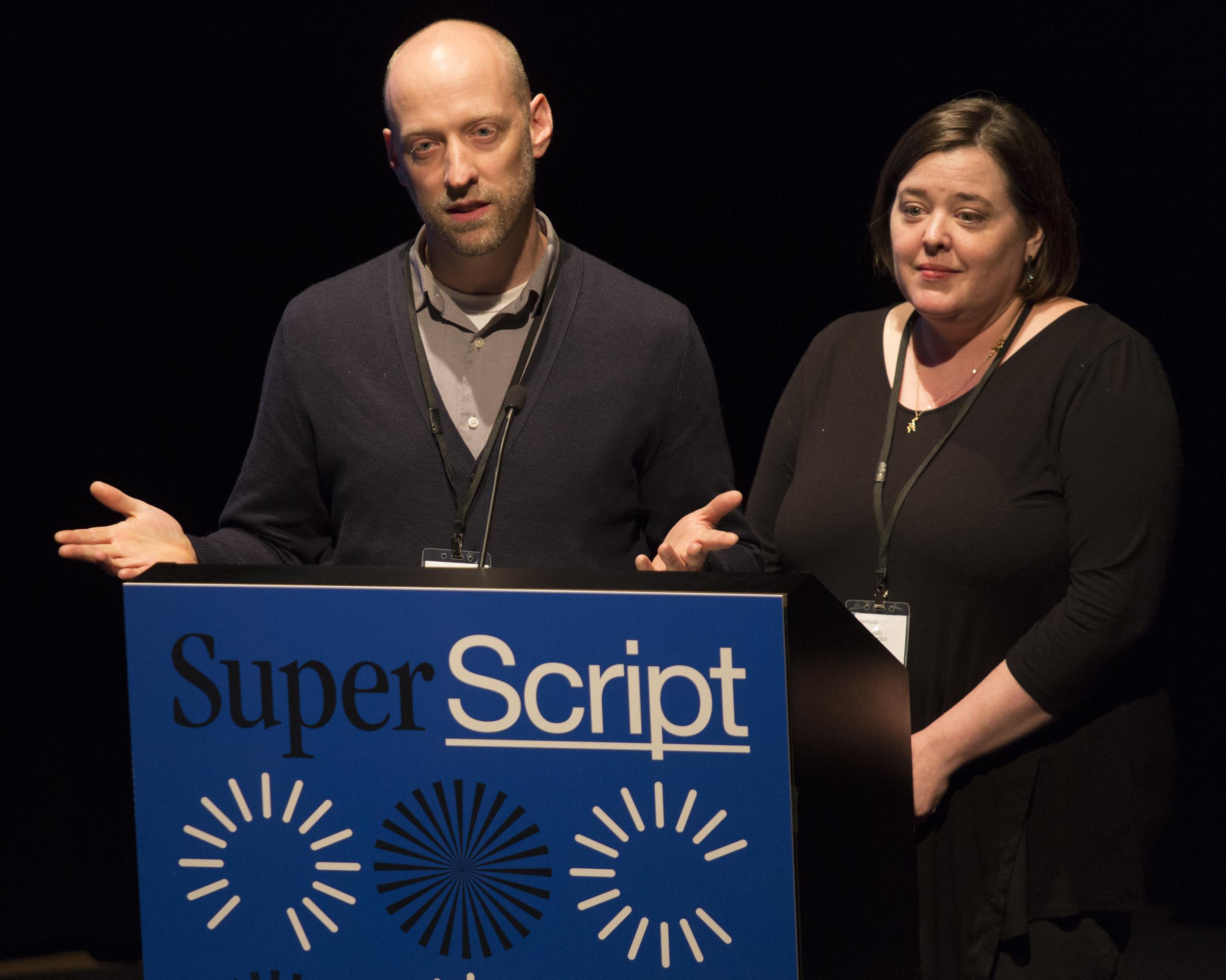 Paul Schmelzer and Superscript co-organizer Susannah Schouweiler. Photo: Walker Art Center