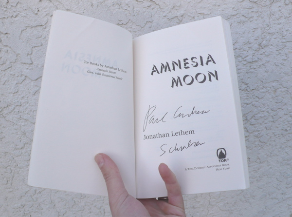 Paul Andrew Schmelzer as signed by Jonathan Lethem.