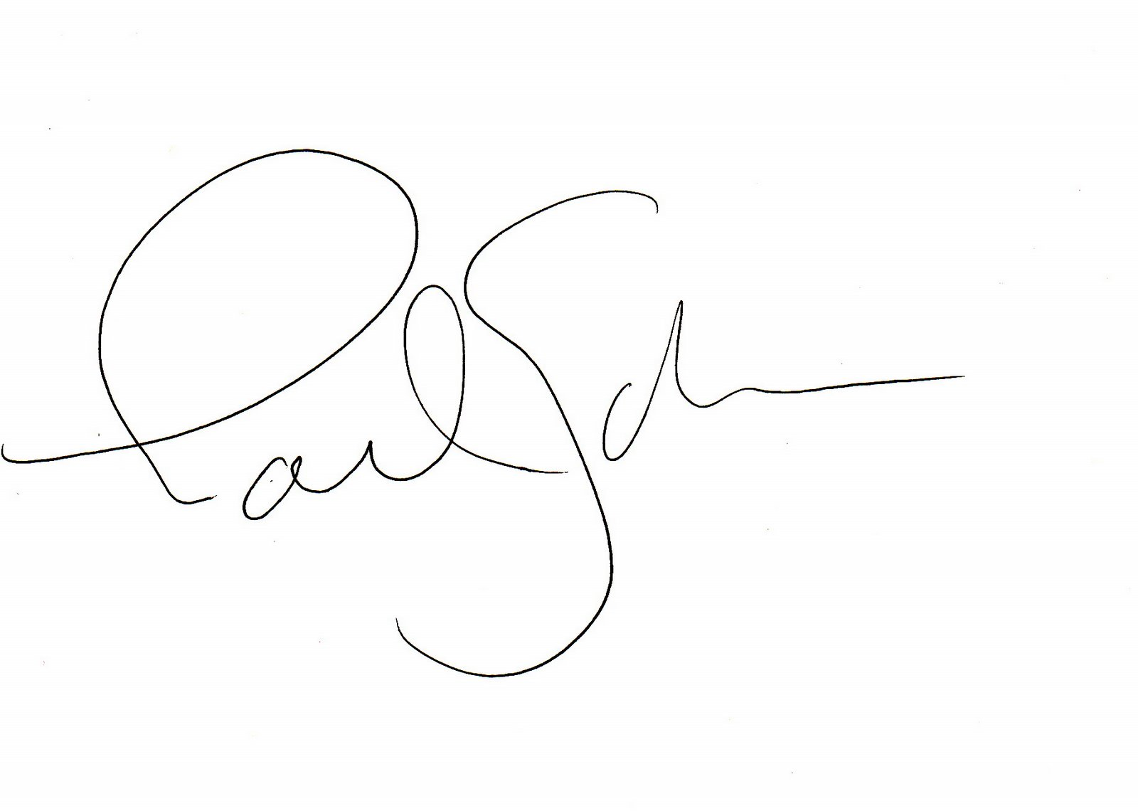 Paul Schmelzer as signed by Laurie Anderson.