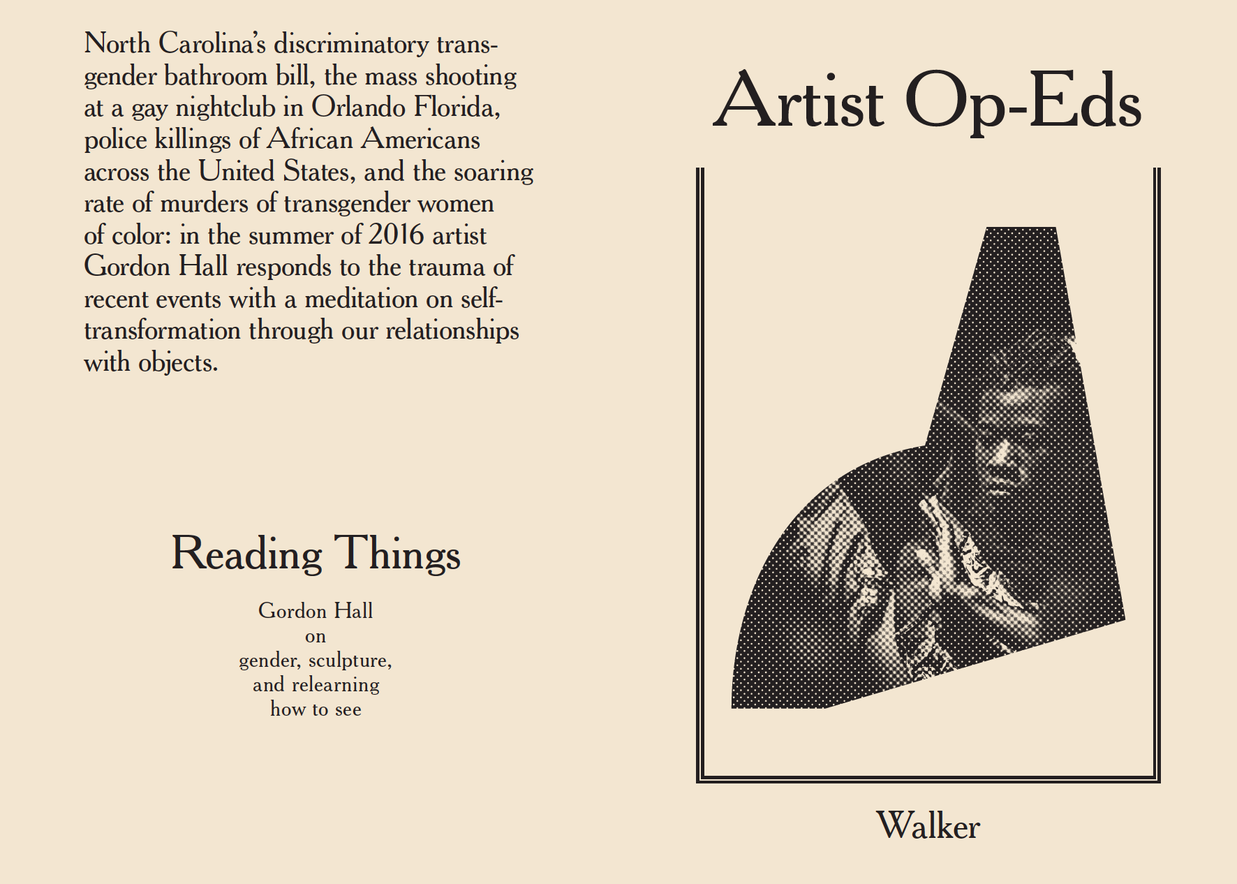 """Reading Things"" cover spread"
