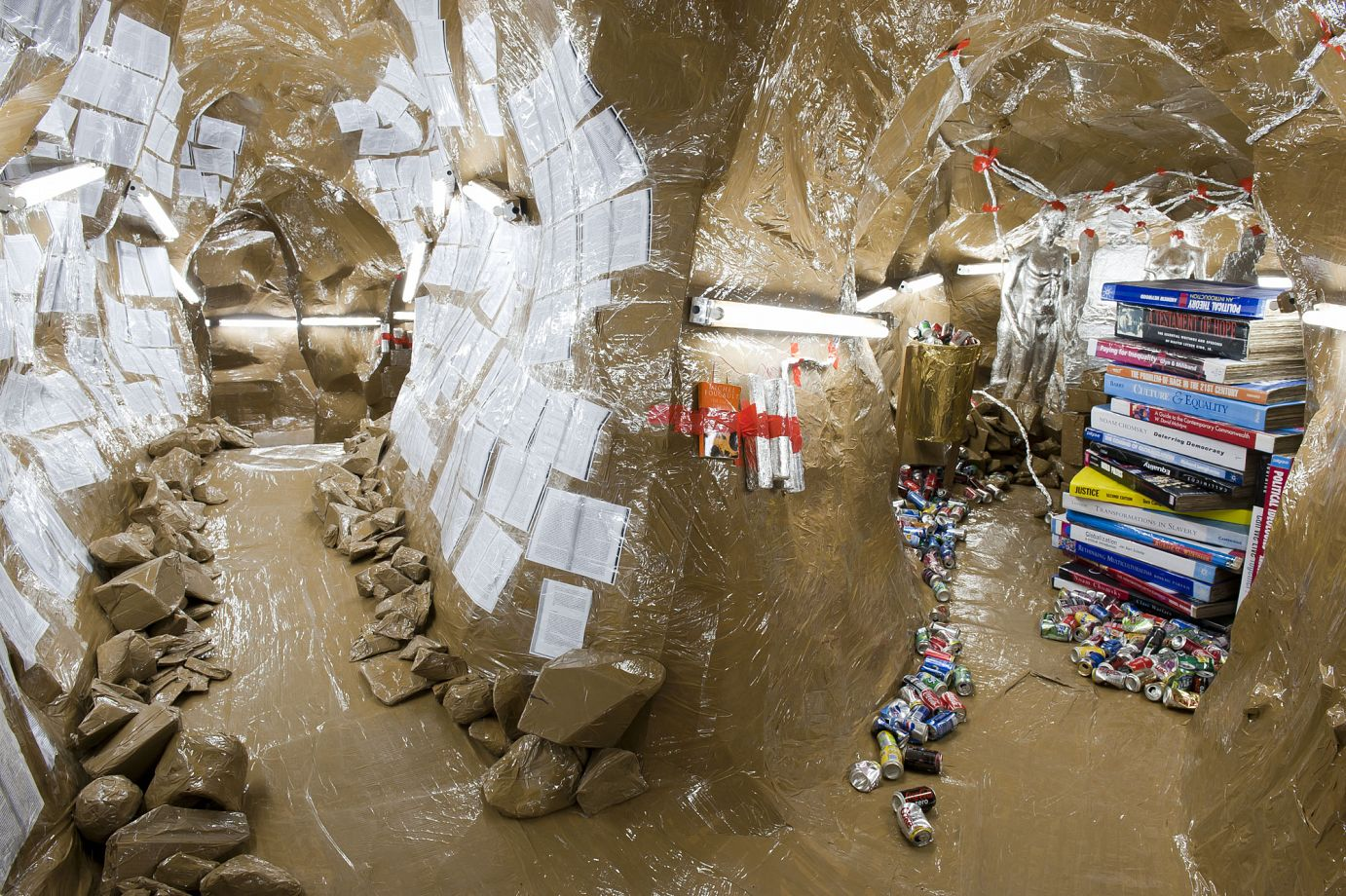Thomas Hirschhorn's Cavemanman at the Walker Art Center