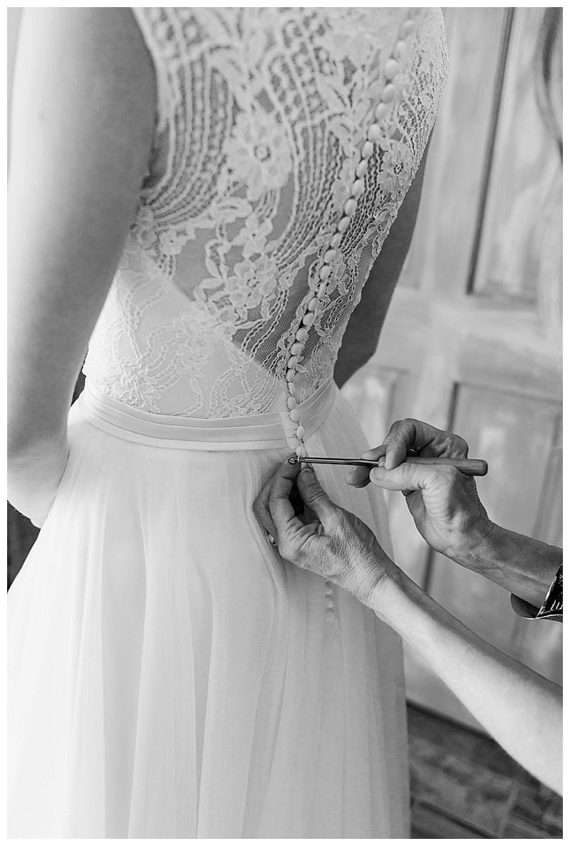 Black and White of Dress Back Details