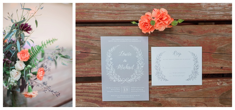 Floral Details and Invitations