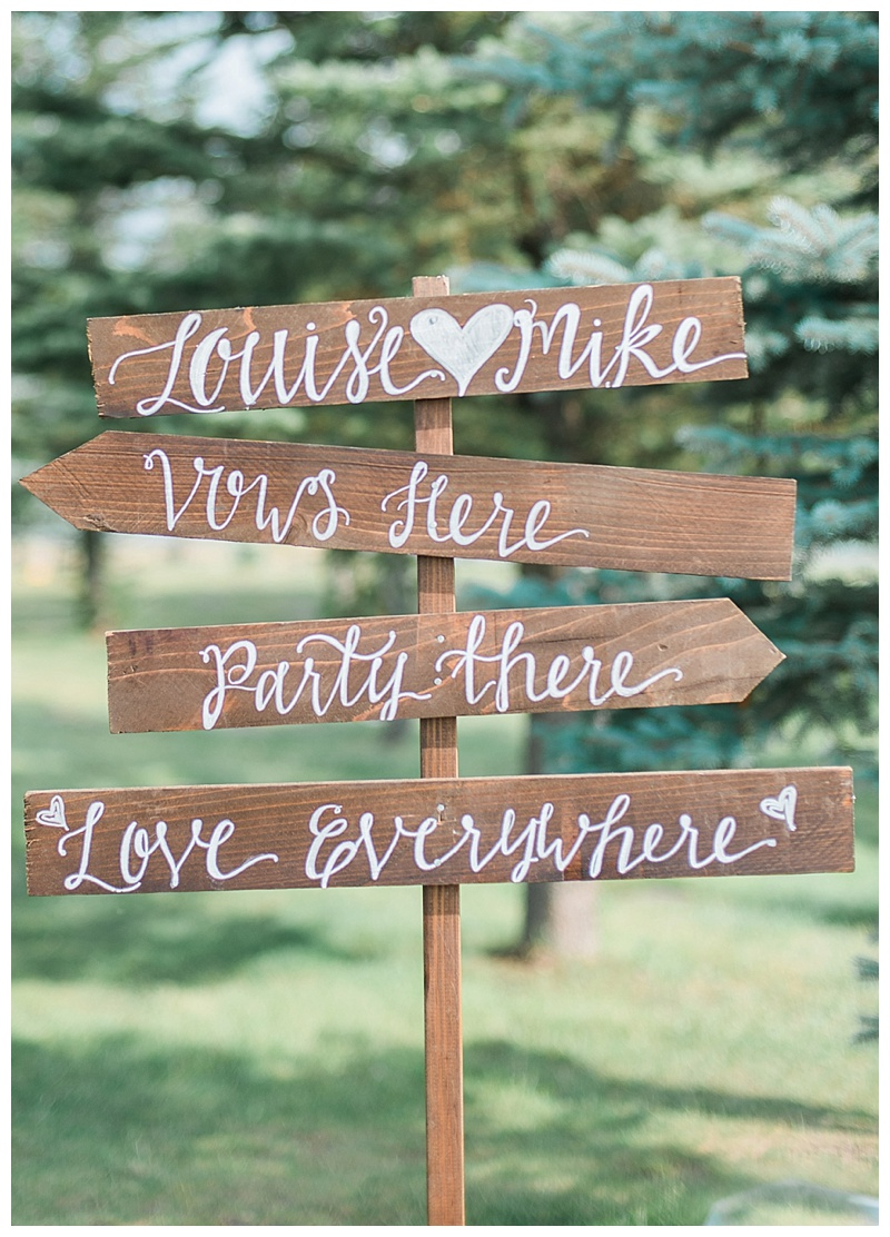 Hand painted calligraphy wedding welcome sign