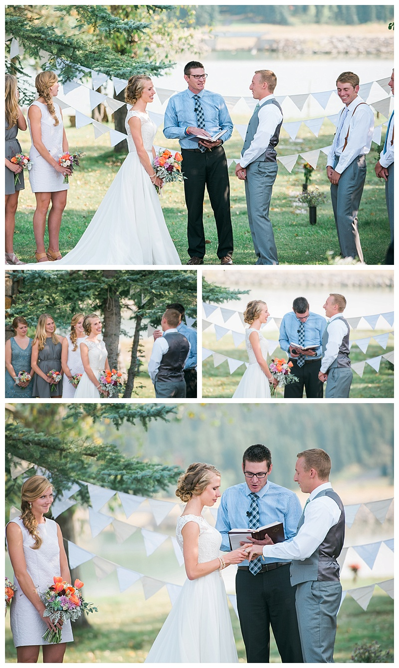 Wedding Ceremony at the Barn at Evergreen Memorial Park