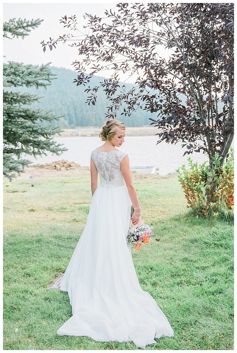 Bridal Portrait from behind