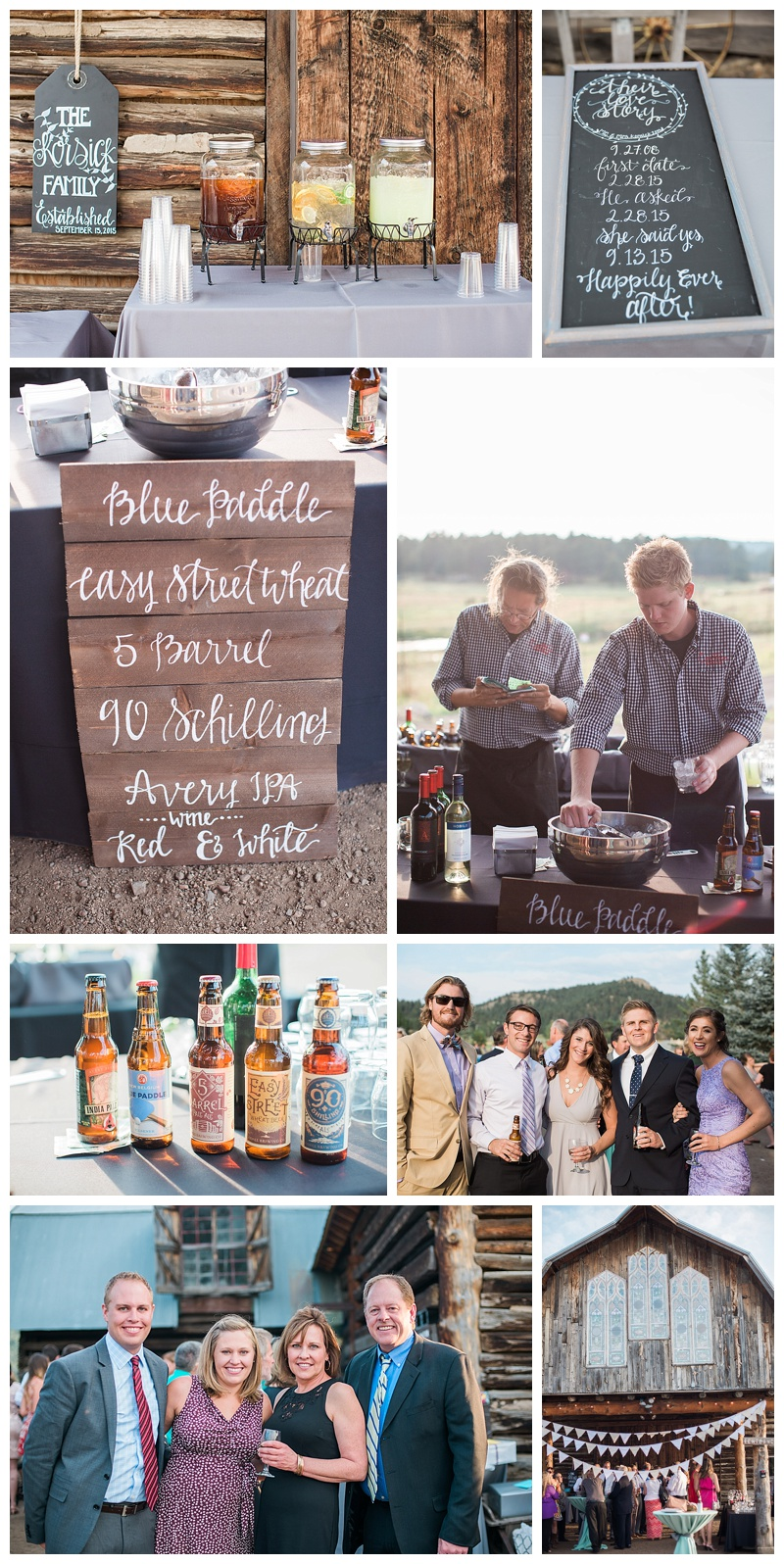 Wedding Cocktail Hour at the Barn at Evergreen Memorial Park