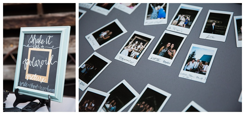 Polaroids as a guest book
