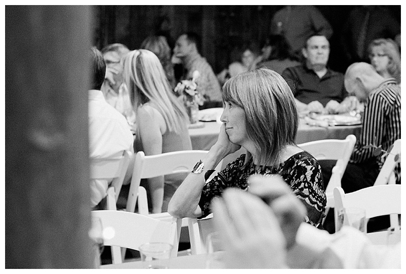 Mother of the bride watching the father-daughter dance