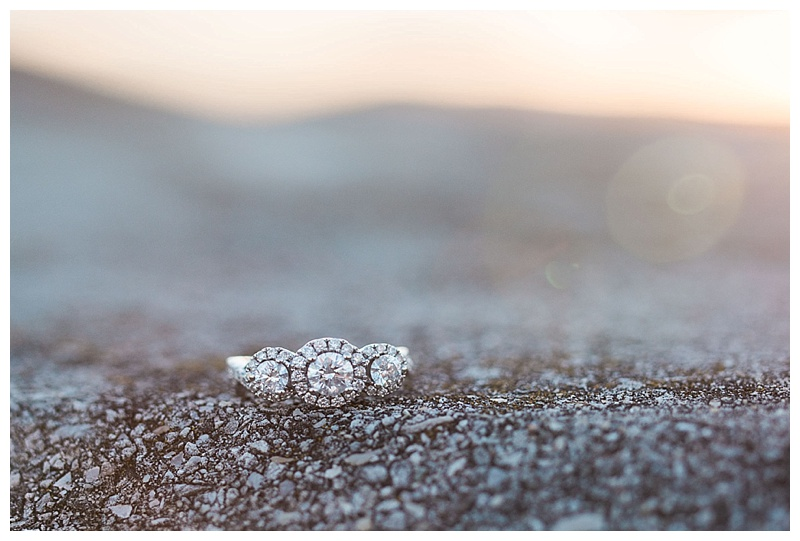 Engagement Ring by sunset light