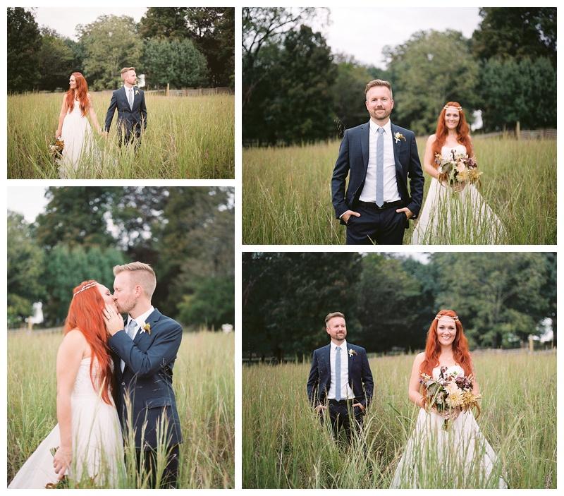 Bride and Groom Portraits- Fall themed TN wedding