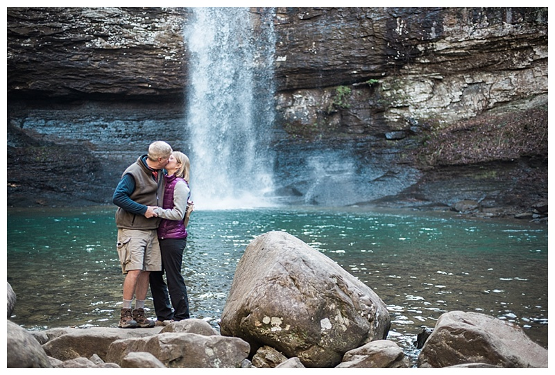 Cloudland Canyon Waterfall Engagement Pictures