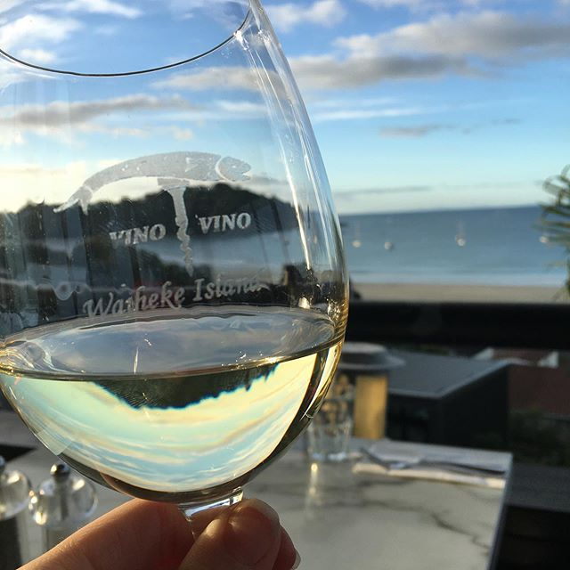Pre dinner Riesling on Waiheke Island. Our last night in NZ 😭 but we will be back no doubt!