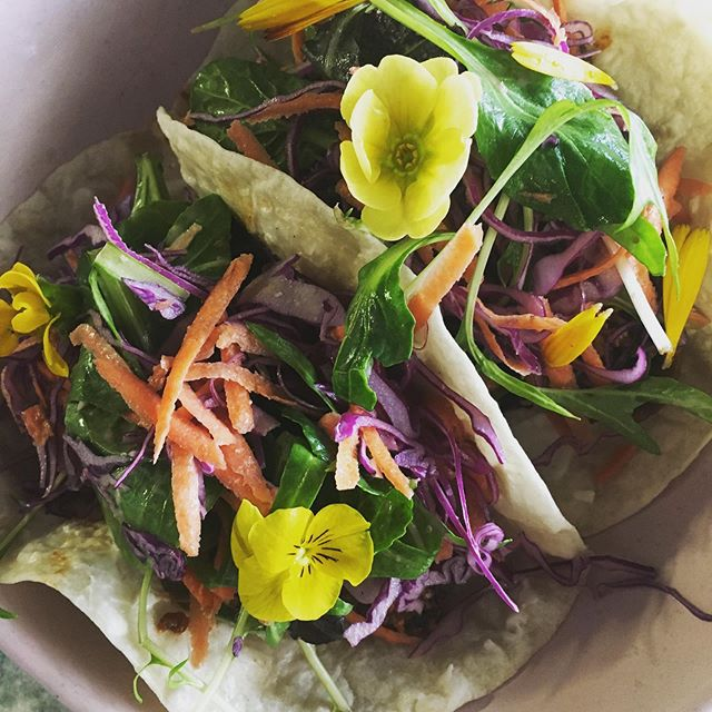 Vegan tacos @thenourishingbaker so pretty!