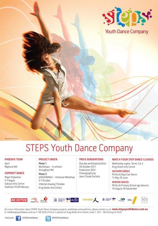 Image: Ashley de Prazer STEPS Youth Dance Company, 2011.