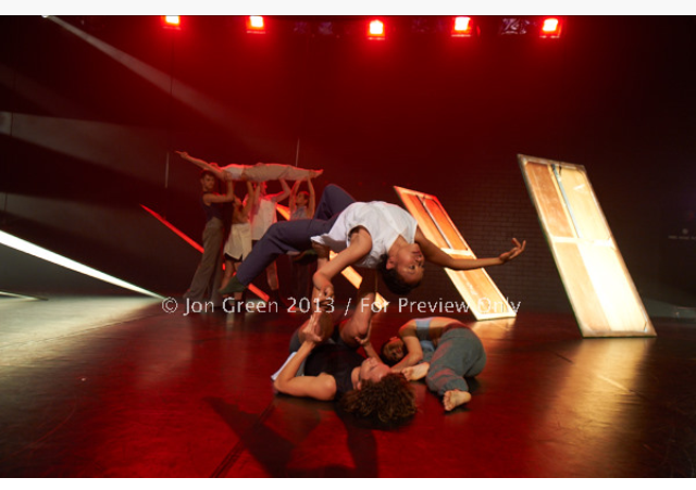 Image: Jon Green There's no time like the present, Leigh Warren. JARDI, Geoff Gibbs Theatre, 2013.
