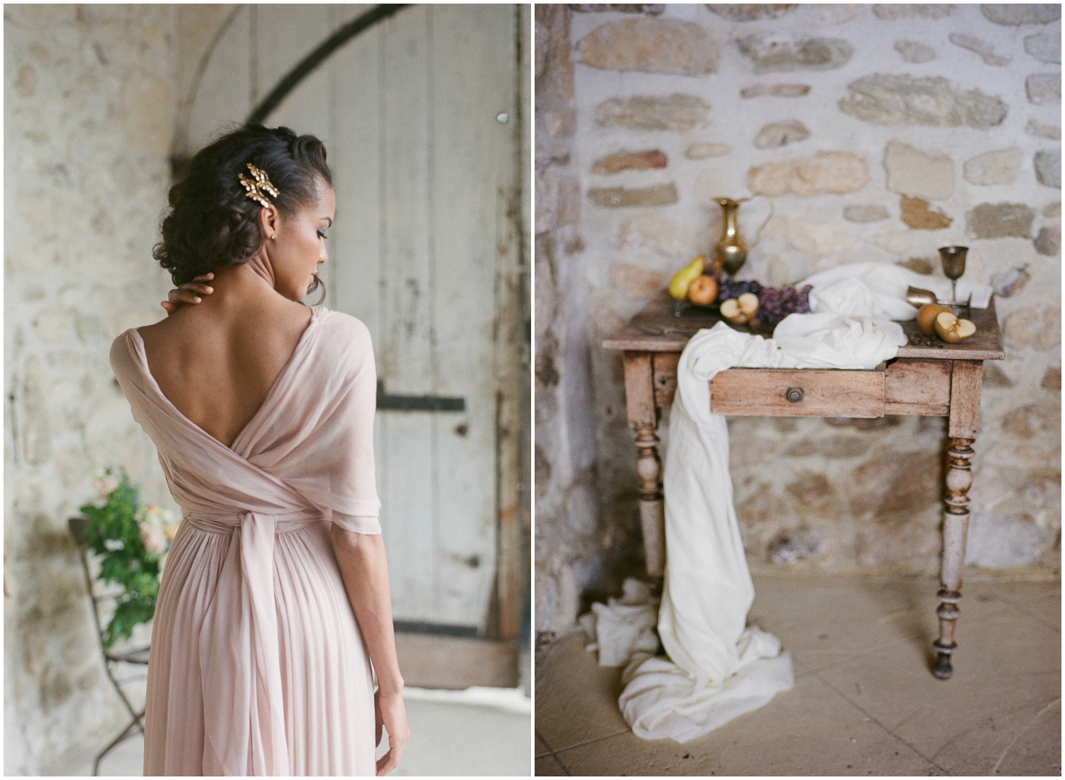 Gorgeous blush dress for brides by Leila Hafzi