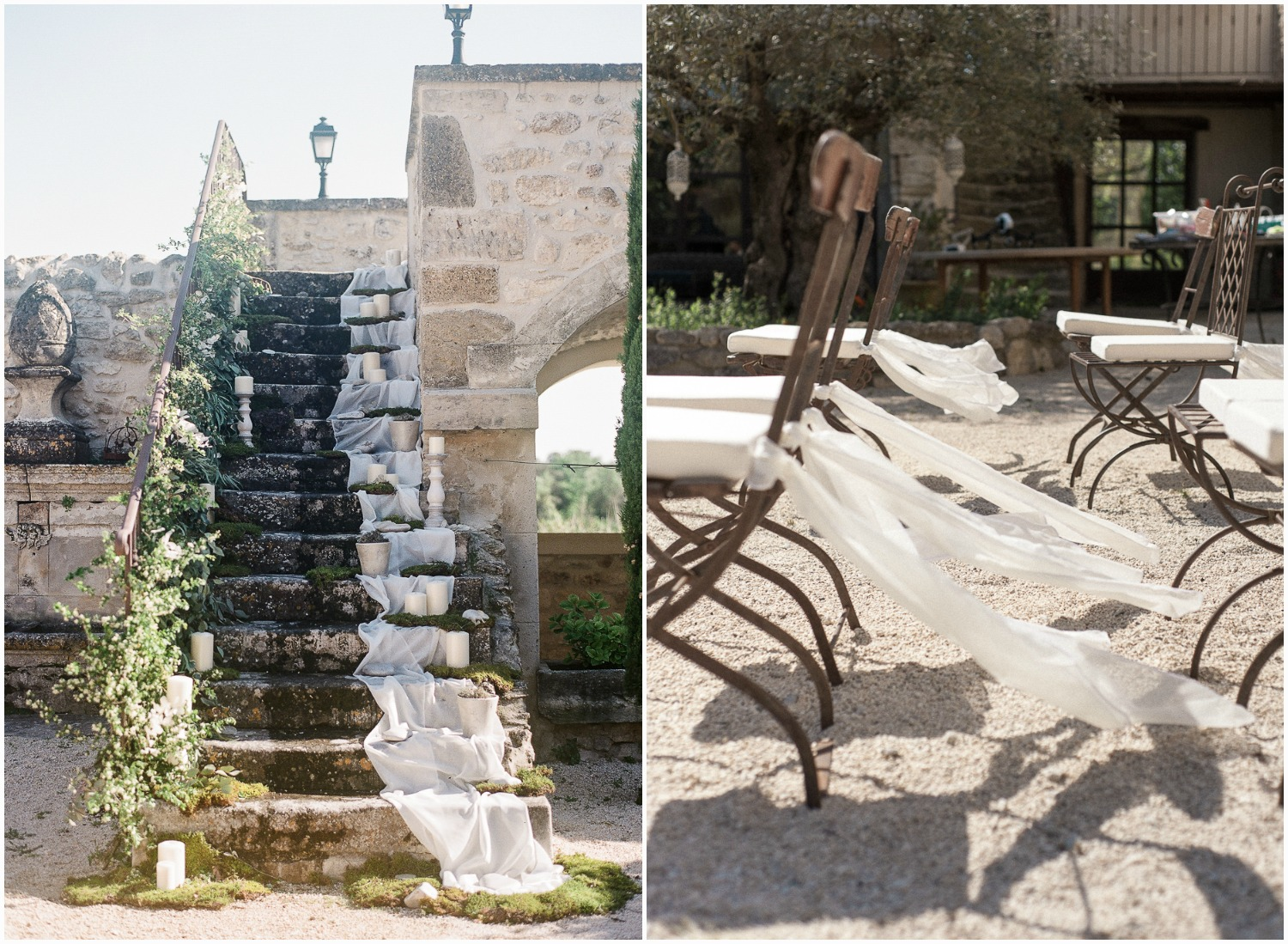 Beautiful organic ceremony setting in Provence at Domaine de Patras