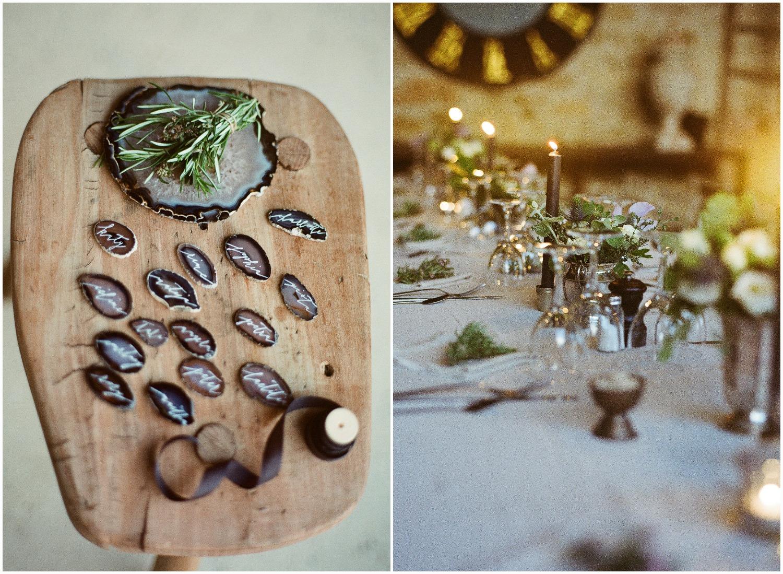 Nice ideas for wedding name tags. Idées pour les porte noms des tables de mariage