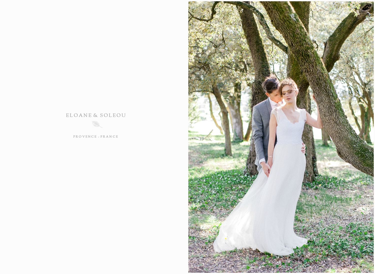 Romantic wedding in Provence