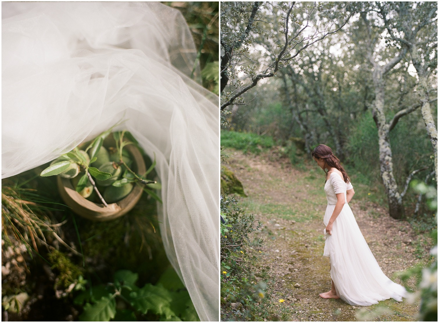 Barefoot Bride in Provence ©Celine Chhuon