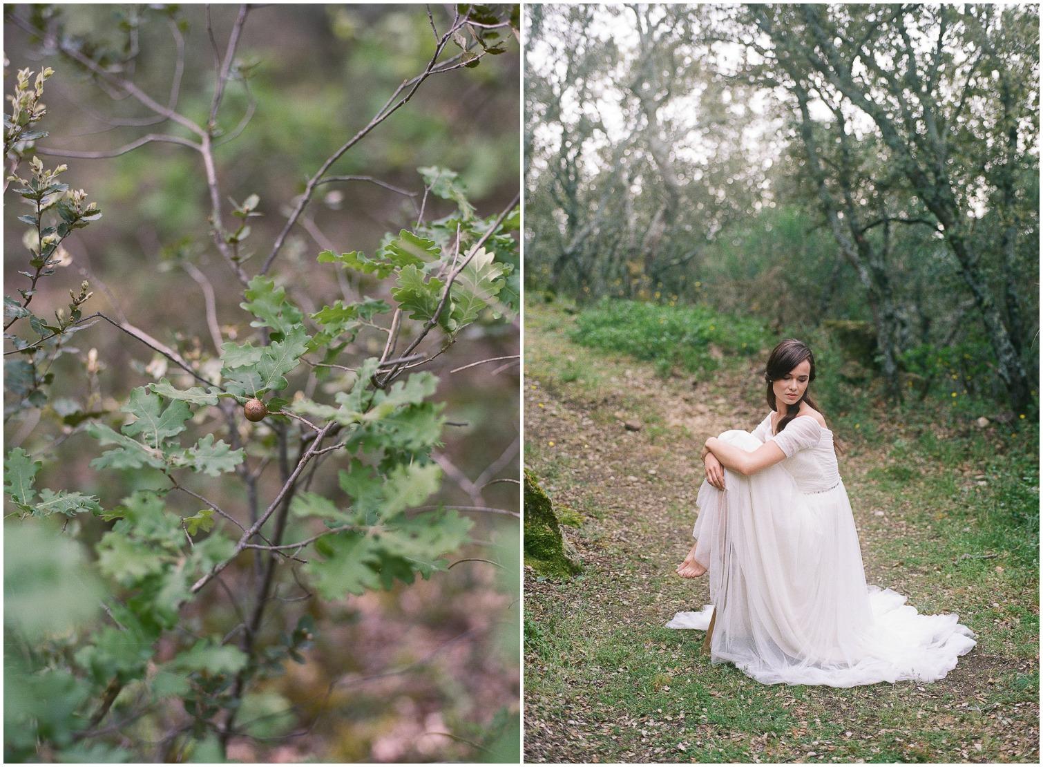 romantic bride in provence