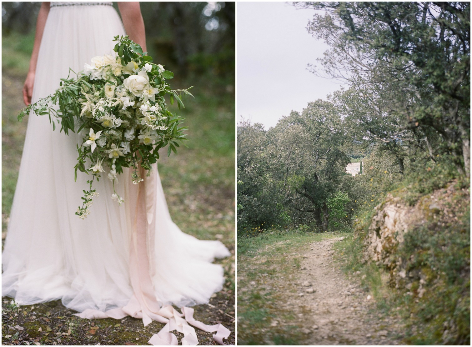 Romantic and ethereal wedding bouquet ©Celine Chhuon