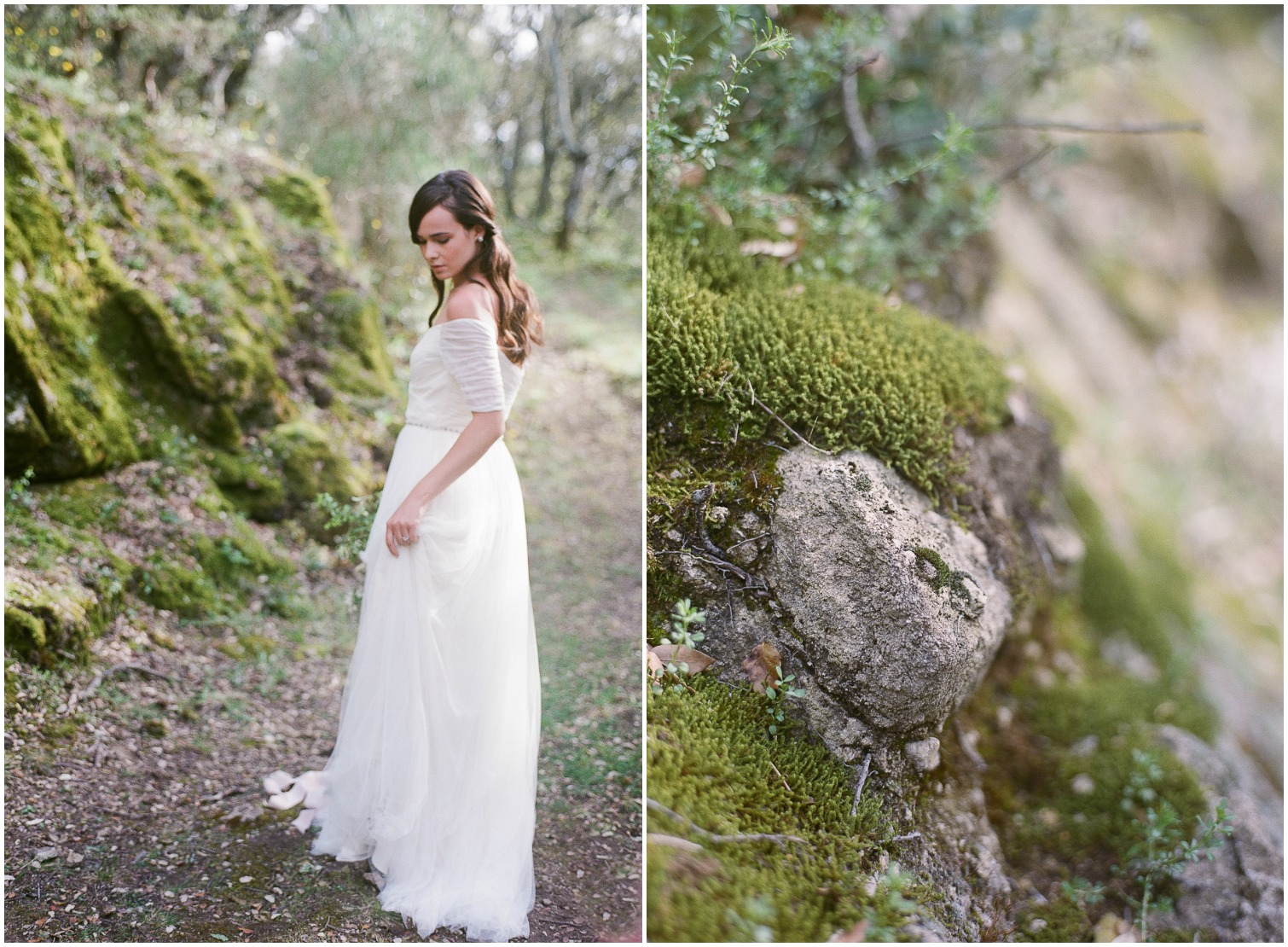 Romantic Bride in the woods ©Celine Chhuon