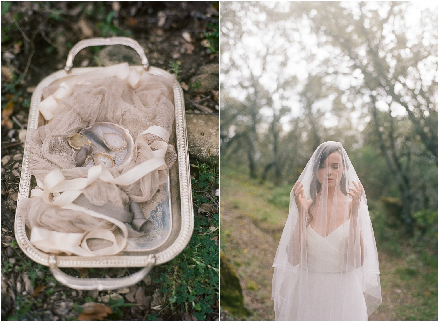 Beautil wedding rings and veil ©Celine Chhuon