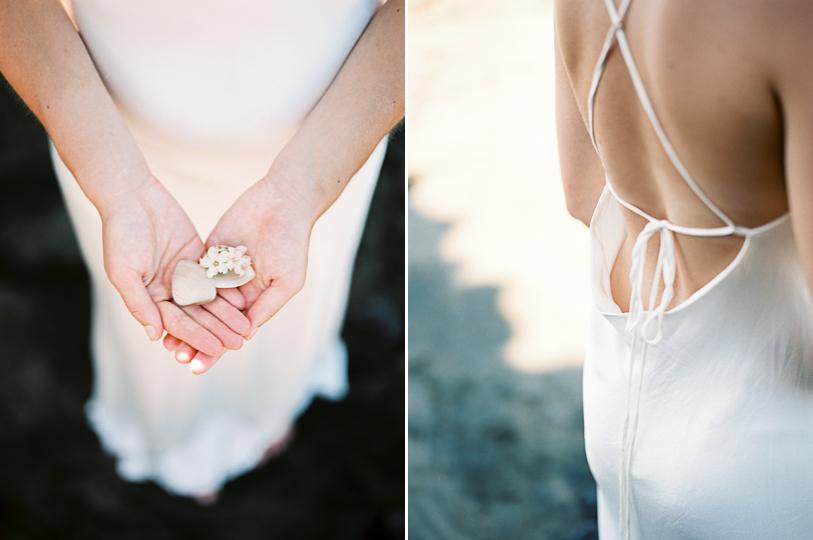 Simple elegant dress for boho bride, designed by A la Robe