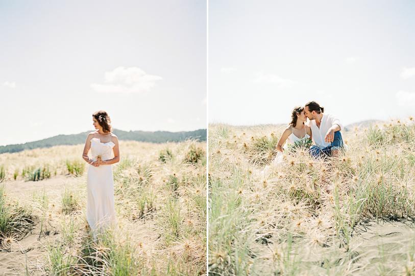 Elopement on the beach from destination wedding photographer