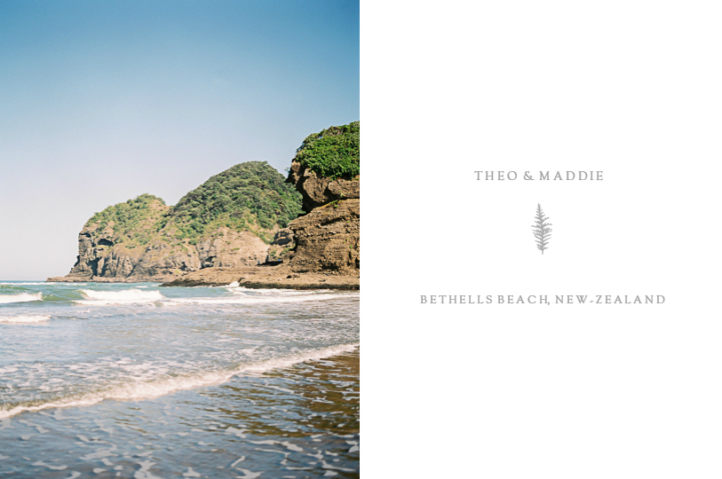 Engagement photoshoot in New Zealand black sand beach