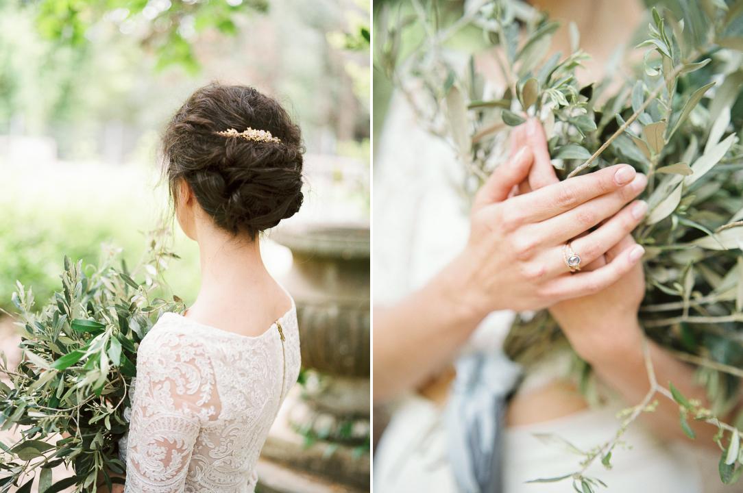 Engagement ring blue saphir