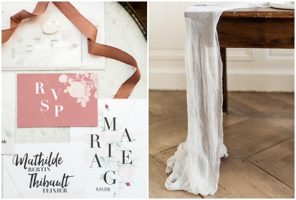 Elegant and organic wedding invitation suit