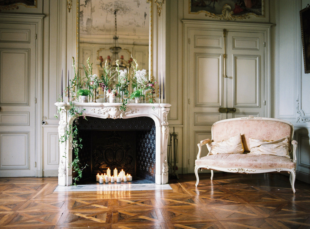 French Chateau de varennes wedding
